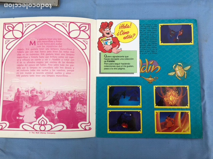 Coleccionismo Álbum: Album Cromos Aladdin Panini Completo - Foto 2 - 108399003