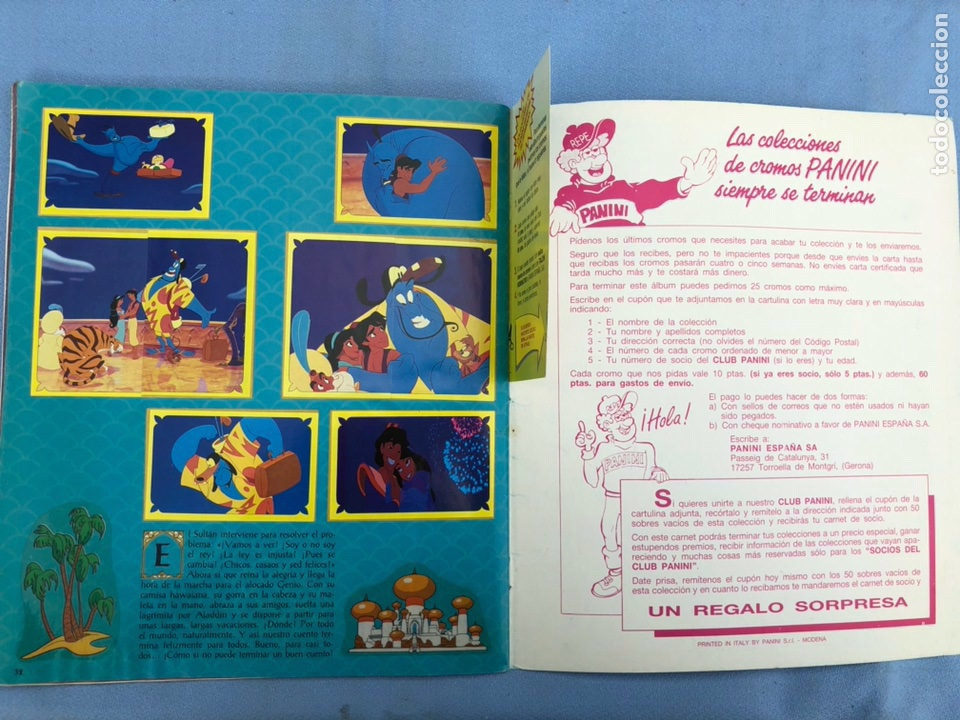 Coleccionismo Álbum: Album Cromos Aladdin Panini Completo - Foto 4 - 108399003