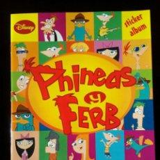 Coleccionismo Álbum: PHINEAS Y FERB. PANINI 2012. COLECCIÓN COMPLETA. CROMOS PEGADOS. Lote 110016487