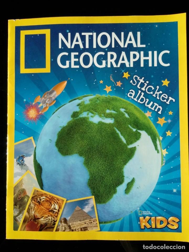 NATIONAL GEOGRAPHIC KIDS. PANINI 2012. COLECCIÓN COMPLETA. CROMOS PEGADOS (Coleccionismo - Cromos y Álbumes - Álbumes Completos)