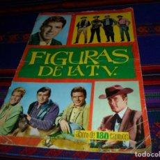 Coleccionismo Álbum: FIGURAS DE LA TV COMPLETO 180 CROMOS. EDICIONES ESTE 1965. RARO.. Lote 110146647