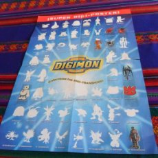 Coleccionismo Álbum: REGALO ÁLBUM PÓSTER CHICLE DIGIMON. DIGITAL DIGIMON MONSTERS COMPLETO CON PÓSTER. PANINI 2000.. Lote 105899048