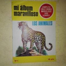 Coleccionismo Álbum: MI ÁLBUM MARAVILLOSO - LOS ANIMALES. Lote 110503787