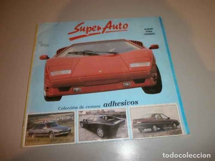 ALBUM COMPLETO SUPER AUTO AÑO 1990 (Coleccionismo - Cromos y Álbumes - Álbumes Completos)