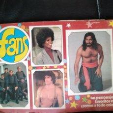 Coleccionismo Álbum: ALBUM FANS COMPLETO CON 182 CROMOS. Lote 110806251
