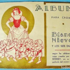 Coleccionismo Álbum: PERFECTO Y COMPLETO ALBUM DE CROMOS. BLANCA NIEVES Y LOS SIETE ENANITOS. ED. FHER. WALT DISNEY.. Lote 111771631
