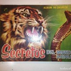 Coleccionismo Álbum: SECRETOS DEL MUNDO ANIMAL. Lote 112163379