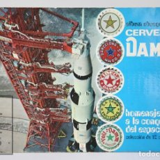 Coleccionismo Álbum: ÁLBUM DE CROMOS COMPLETO - ÁLBUM OBSEQUIO DE CERVEZAS DAMM. HOMENAJE CONQUISTA ESPACIO - 82 CROMOS. Lote 112504371