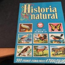 Coleccionismo Álbum: HISTORIA NATURAL SERIE 5ª ALBUM 2º COMPLETO 264 CROMOS BRUGUERA. PRIMERA EDICION (H-2). Lote 112550071
