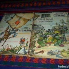 Coleccionismo Álbum: CHOCOLATES LLOVERAS ÁLBUM NºS 1 2 COMPLETO DON QUIJOTE DE LA MANCHA, 20000 LEGUAS DE VIAJE SUBMARINO. Lote 112864891
