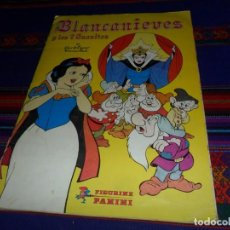 Coleccionismo Álbum: VERSIÓN GRAN TAMAÑO 360 CROMOS, BLANCANIEVES Y LOS SIETE ENANITOS COMPLETO. PANINI. WALT DISNEY RARO. Lote 112874619