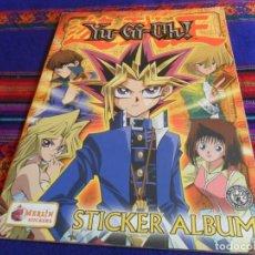 Coleccionismo Álbum: YU-GI-OH! YU GO OH STICKER ALBUM COMPLETO. MERLIN STICKERS 1996. BUEN ESTADO.. Lote 112894287