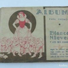 Coleccionismo Álbum: ANTIGUO ALBUM DE BLANCA NIEVES Y LOS SIETE ENANITOS, ALBUM COMPLETO DE 216 CROMOS, EDITORIAL FHER, B. Lote 113647967