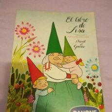 Coleccionismo Álbum: ALBUM - EL LIBRO DE LISA - COMPLETO - CROMOS POR PEGAR . SERIE TV DAVID EL GNOMO - DANONE DE 1985. Lote 113842743