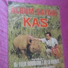 Coleccionismo Álbum: ALBUM SAFARI COMPLETO FELIX RODRIGUEZ DE LA FUENTE. Lote 113857947