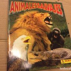 Coleccionismo Álbum: PRECIOSO ALBUM DE CROMOS COMPLETO - ANIMALES SALVAJES DE PANINI. VER FOTOS. Lote 114023655