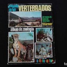 Coleccionismo Álbum: ALBUM DE CROMOS EL MUNDO DE LOS VERTEBRADOS. Lote 114580131