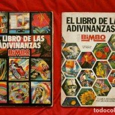 Coleccionismo Álbum: LIBRO DE LAS ADIVINANZAS 1 Y 2 (DOS ALBUMES) BIMBO 1973-74 (COMPLETOS). Lote 114783719