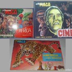 Coleccionismo Álbum: LOTE ALBUMES MAGA COMPLETOS: ÁFRICA Y SUS HABITANTES- AMÉRICA Y SUS HABITANTES + REGALO. Lote 114781646