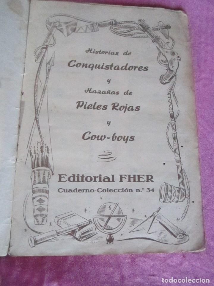 Coleccionismo Álbum: ALBUM COMPLETO HISTORIAS DE CONQUISTADORES Y HAZAÑAS DE PIELES ROJAS . - Foto 5 - 115021319