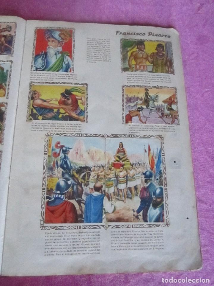 Coleccionismo Álbum: ALBUM COMPLETO HISTORIAS DE CONQUISTADORES Y HAZAÑAS DE PIELES ROJAS . - Foto 9 - 115021319