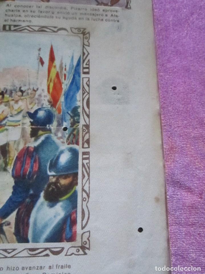 Coleccionismo Álbum: ALBUM COMPLETO HISTORIAS DE CONQUISTADORES Y HAZAÑAS DE PIELES ROJAS . - Foto 10 - 115021319