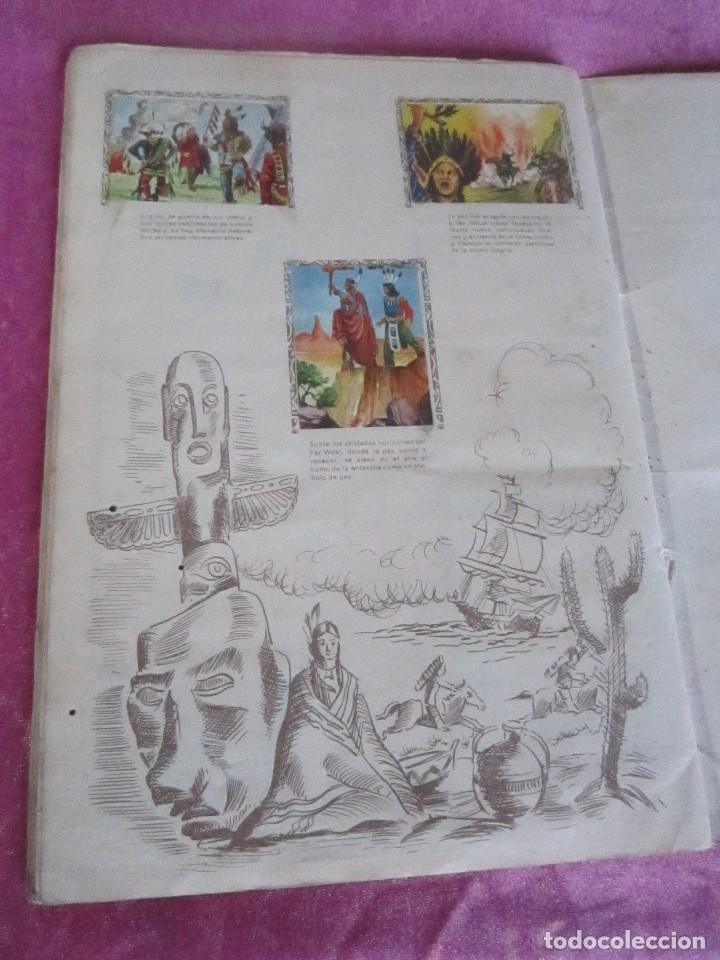 Coleccionismo Álbum: ALBUM COMPLETO HISTORIAS DE CONQUISTADORES Y HAZAÑAS DE PIELES ROJAS . - Foto 13 - 115021319