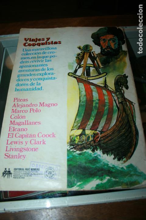 Coleccionismo Álbum: Album completo viajes y conquistadores año 1976 editorial Ruiz Romero. - Foto 3 - 115024015