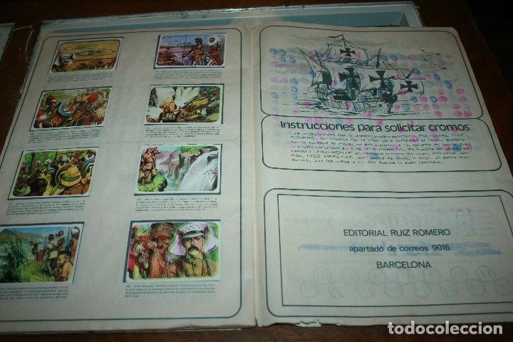 Coleccionismo Álbum: Album completo viajes y conquistadores año 1976 editorial Ruiz Romero. - Foto 5 - 115024015