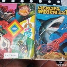 Coleccionismo Álbum: ALBUM DE CROMOS CIENCIAS NATURALES DE EASO, AÑO 82 COMPLETO TAPAS FATIGADAS. Lote 115189923