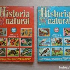 Coleccionismo Álbum: HISTORIA NATURAL BRUGUERA COLECCION SERIE CULTURA 2 ALBUMES DE CROMOS COMPLETOS. Lote 115516483