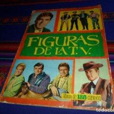 Coleccionismo Álbum: FIGURAS DE LA T.V. TV COMPLETO 180 CROMOS. EDICIONES ESTE 1965. RARO.. Lote 115568159