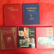 Coleccionismo Álbum: 5 NESTLE: ALBUM LUJO I, MI ALBUM II, LAS MARAVILLAS DEL MUNDO, LAS MARAVILLAS DEL UNIVERSO I Y II. Lote 115779763
