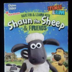 Coleccionismo Álbum: ALBUM COMPLETO . SHAUN THE SHEEP AND FRIENDS . E-MAX 2014 . CROMOS PEGADOS. PERFECTO. Lote 116118711