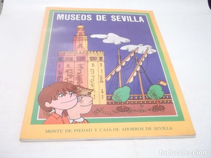 MUSEOS DE SEVILLA - LIBRO ÁLBUM DE CROMOS COMPLETO - EL MONTE DE PIEDAD CAJA DE AHORROS - HISTORIA (Coleccionismo - Cromos y Álbumes - Álbumes Completos)