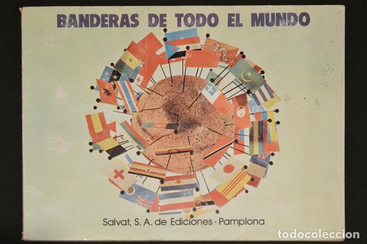 ALBUM CROMOS COMPLETO BANDERAS DE TODO EL MUNDO SALVAT 1973 (Coleccionismo - Cromos y Álbumes - Álbumes Completos)