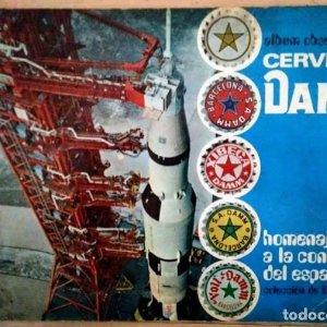 Album obsequio de Cervezas DAMM homenaje a la conquista del espacio COMPLETO 82 cromos pegados