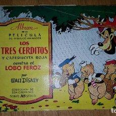Coleccionismo Álbum: ALBUM LOS TRES CERDITOS Y CAPERUCITA ROJA CONTRA EL LOBO FEROZ. COMPLETO . DISNEY. BRUGUERA. Lote 117186723
