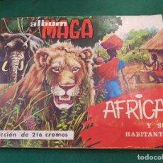 Coleccionismo Álbum: ÀLBUM DE CROMOS MAGA - AFRICA Y SUS HABITANTES - COMPLETO. Lote 117283927
