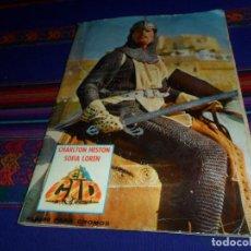 Coleccionismo Álbum: EL CID CHARLTON HESTON Y SOFÍA LOREN COMPLETO 196 CROMOS. FHER 1962.. Lote 117525591