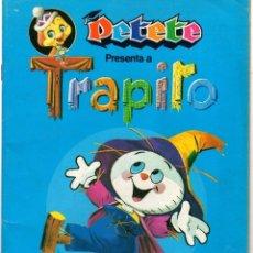 Coleccionismo Álbum: ALBUM CROMOS PETETE PRESENTA A TRAPITO. COMPLETO 96 CROMOS. Lote 118130314