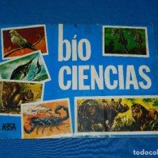 Coleccionismo Álbum: ALBUM COMPLETO - BIO CIENCIAS , KAISA EDICIONES 1972 , DIFICIL , 259 CROMOS , SEÑALES DE USO. Lote 118168087