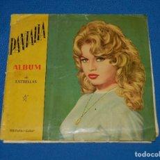 Coleccionismo Álbum: ALBUM COMPLETO - PANTALLA ALBUM DE ESTRELLAS DE CINE 1960 , 128 CROMOS , SEÑALES DE USO. Lote 118579819