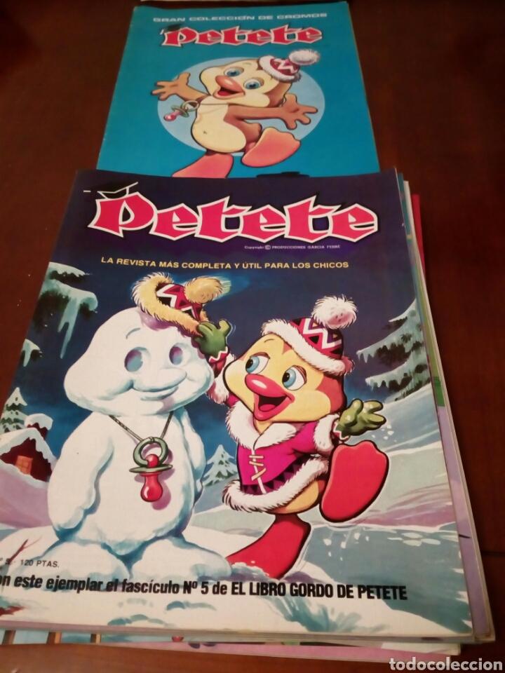 Coleccionismo Álbum: PETETE álbum completó cromos sin pegar con sus laminas sin recortar y revistas - Foto 10 - 119309728