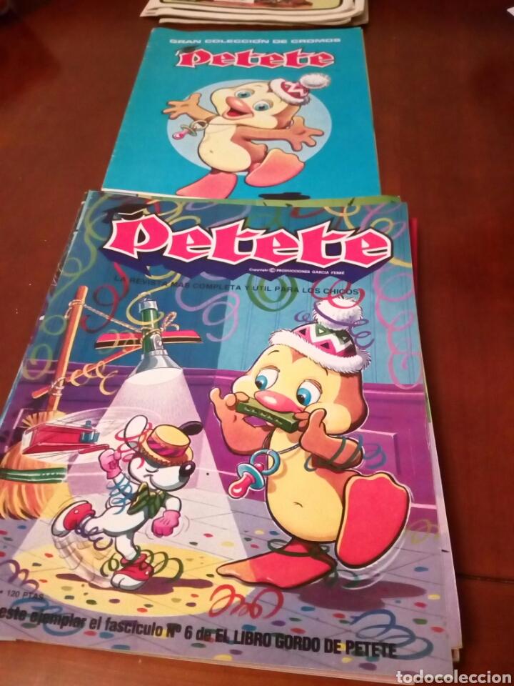 Coleccionismo Álbum: PETETE álbum completó cromos sin pegar con sus laminas sin recortar y revistas - Foto 12 - 119309728