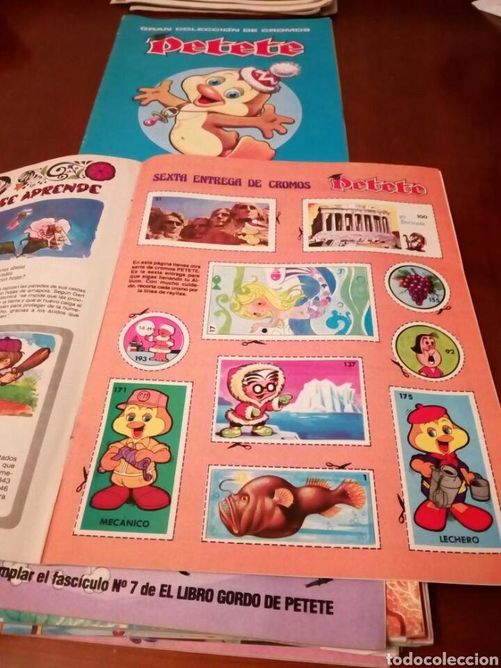 Coleccionismo Álbum: PETETE álbum completó cromos sin pegar con sus laminas sin recortar y revistas - Foto 16 - 119309728