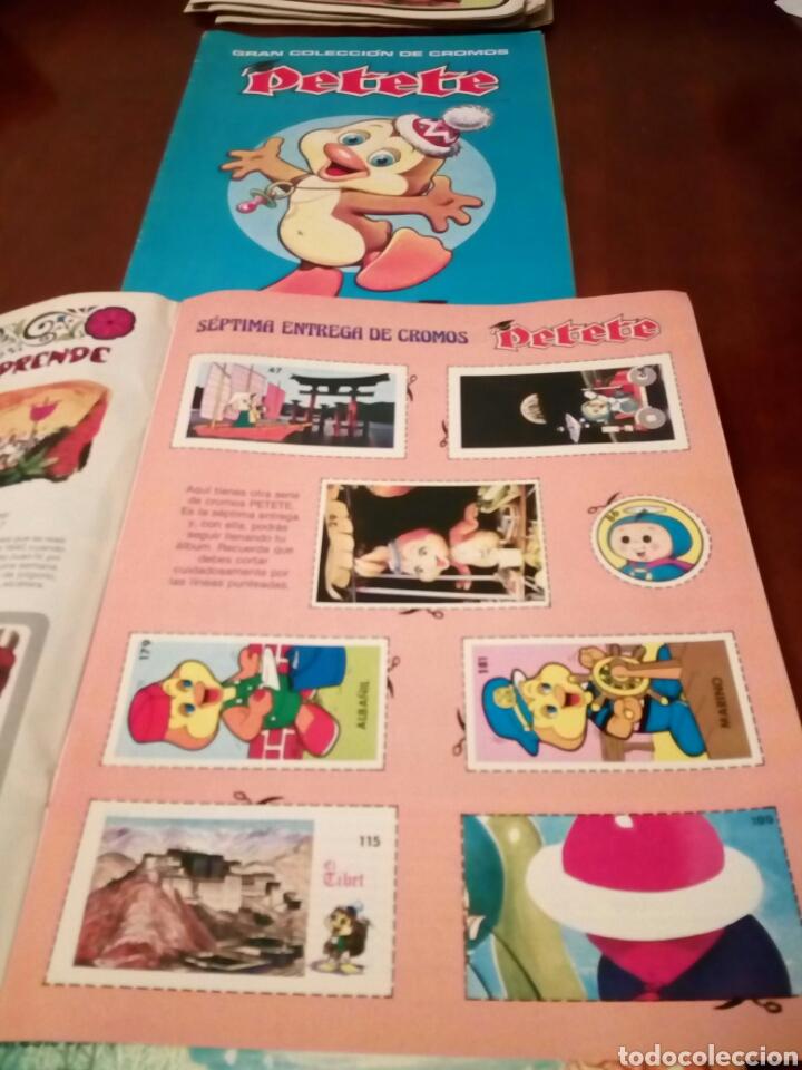 Coleccionismo Álbum: PETETE álbum completó cromos sin pegar con sus laminas sin recortar y revistas - Foto 20 - 119309728