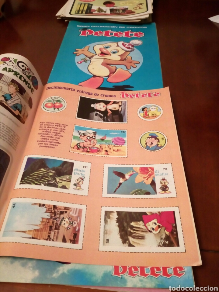 Coleccionismo Álbum: PETETE álbum completó cromos sin pegar con sus laminas sin recortar y revistas - Foto 48 - 119309728