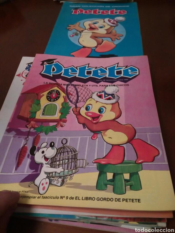 Coleccionismo Álbum: PETETE álbum completó cromos sin pegar con sus laminas sin recortar y revistas - Foto 49 - 119309728