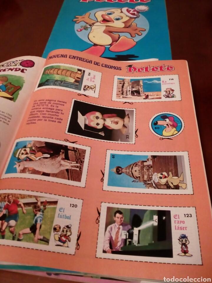 Coleccionismo Álbum: PETETE álbum completó cromos sin pegar con sus laminas sin recortar y revistas - Foto 51 - 119309728